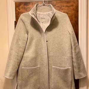 LOWEST PRICE Madewell Cocoon Coat (light grey)